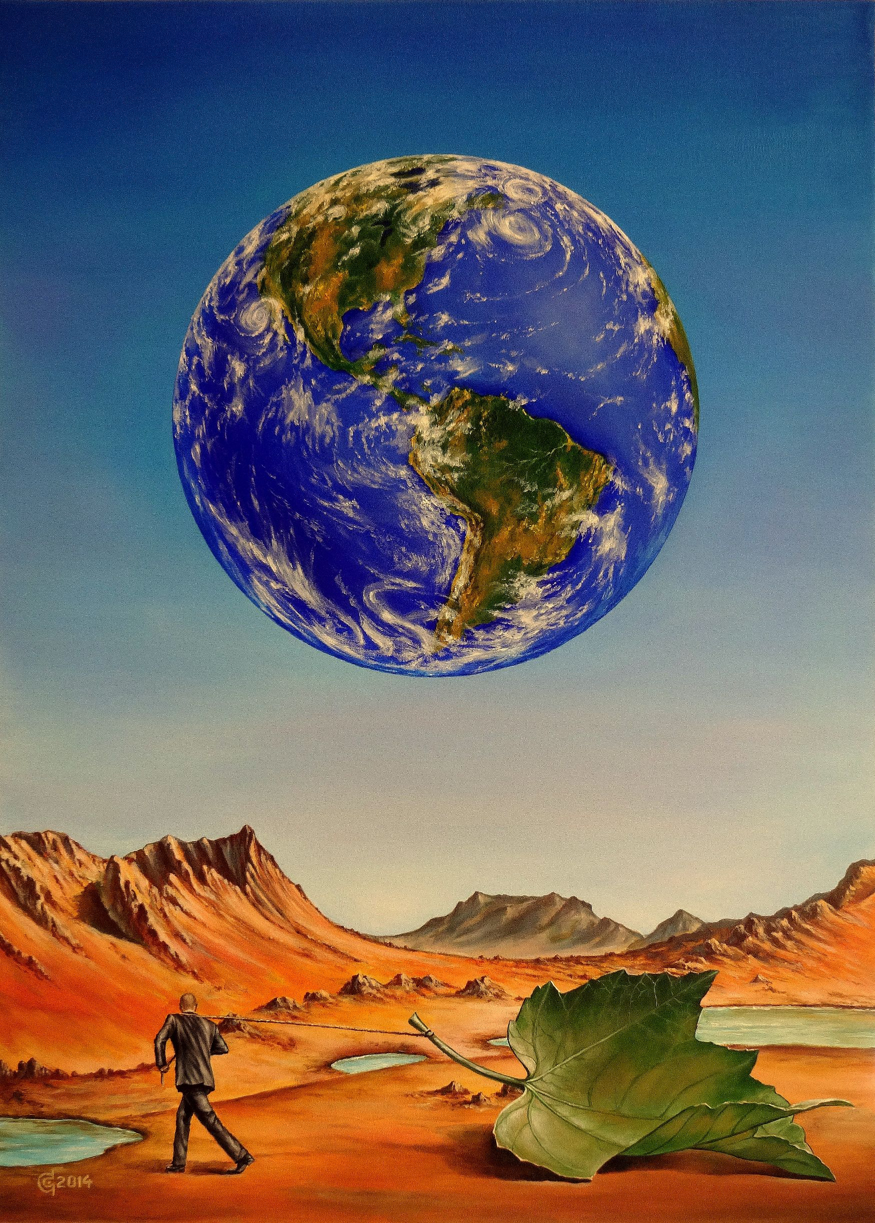 ABANDONED PLANET-oil on canvas,41x56cm.2014
