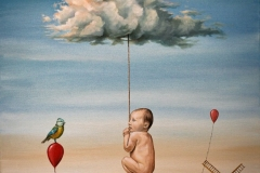 CHILDHOOD MEMORY-oil-on-canvas41x56cm.2011