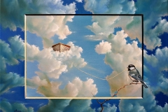 NO GRAVITY-oil-on-canvas41x50cm.2012 SOLD